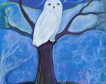 Art Print, Snowy Owl