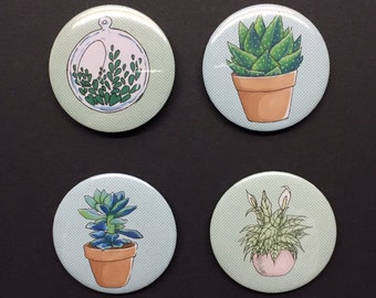 Plant and succulent badge set