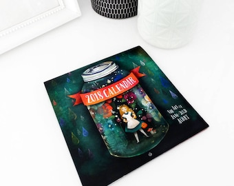 2018 Calendar - Whimsical Art - Wall Calendar