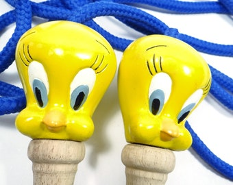 Looney Tunes Jump Rope With Tweety Bird Handles - Like New Condition In Box -1993 Warner Brothers