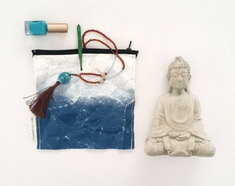 fashion accessories, small bag, vegan bag, blue and white, blue gradient, Pocket Bag, clutch bag, Christmas Gift, makeup bag, tyvek