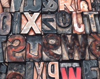 Drawing of Letterpress Alphabet Blocks - Print of Original Art
