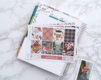 Final Sale // Orchard Avenue ESSENTIALS Planner Sticker Kit (3 Sheets) - For Erin Condren Vertical Life Planner