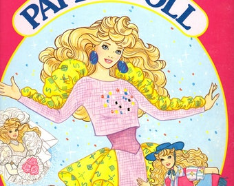 Vintage Barbie Paper Dolls Fantasy Fashion Uncut   Golden Books Paper Dolls   Vintage Barbie Clothes   80s Toys   90s Toys