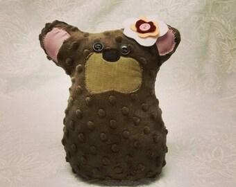 Teddy Bear - Bear Pillow - Minky Bear - Mini Toy Bear - Gift for new Baby - Birthday Gift - Stuffed Teddy Bear - Stuffed Animal -