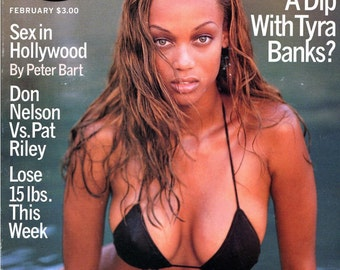 Girls Magazine Porn - GQ Magazine 1996 Tyra Banks Cover First & Last Swimsuit Cover Sex In  Hollywood So You