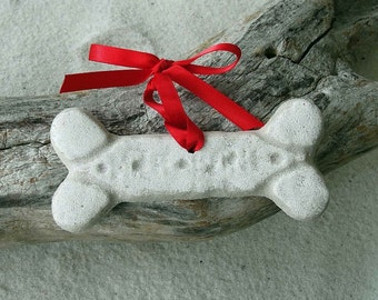 DOG BONE Sand Ornament - Bow Wow Give a Dog a Bone, Not This One Though
