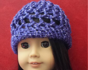 American Girl Doll Hat knitted Handmade 18 inch doll Hat