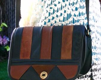 leather flap purse