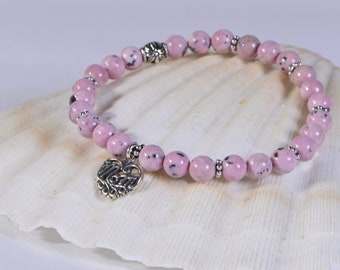 Heart Chakra Bracelet Rhodochrosite Bracelet Healing Bracelet Chakra Bracelet Gemstone Bracelet