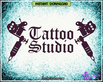 Tattoo Studio, Cut Files, EPS, SVG, Png, Vector
