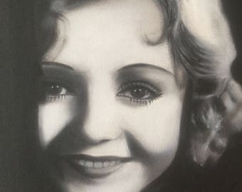 Nancy Carroll Black and White Oil Painting