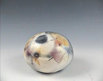 Ceramic Barrel-fired Hidden Treasure Orb or Pet Urn or Keeper of Secrets