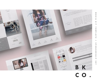 Influencer Media Kit Template | 6 Pages | Press Kit + Cover Letter + Ad Rate