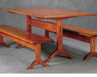 Shaker Trestle Table and Benches