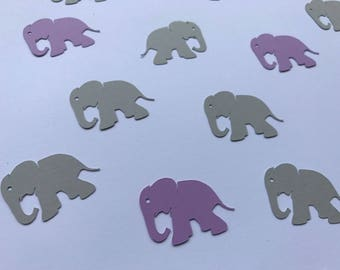 Purple and Grey Elephant Confetti - Baby Shower Confetti - Elephant Confetti - Purple Confetti - 100 pieces