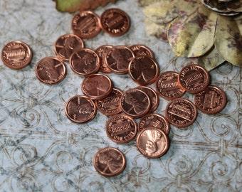 3 Vintage Littlest Copper Pennies