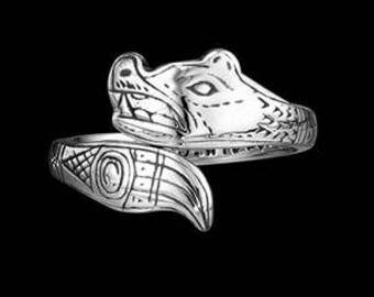 Sterling Silver Tlingit Bear Ring