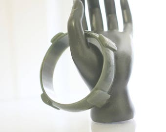 Vintage Jade Bracelet Asian Chinese Jewelry Jade Bangle Bracelet Jade Bracelet