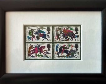 Battle of Hastings made with 1966 mint stamps