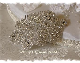 Bridal Hair Comb, Rhinestone Wedding Headband, Jeweled Bridal Headpiece, Crystal Wedding Hair Piece, Beaded Bridesmaid Headband, No. 3040HC