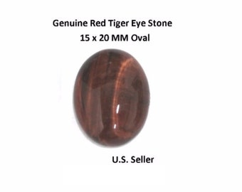 100% Natural Red Tiger Eye Cabochon 15 x 20 MM Oval (Pack of 1)