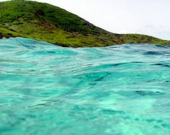 Caribbean Art / Ocean Photography - Turquoise Art - St Croix Virgin Islands - Nature Photography / Ocean Decor - Sea Beach Print / Beach Art
