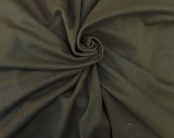 Cotton Spandex French Terry Knit Fabric by Yard - Olive 8/15