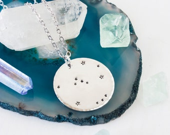 Orion necklace. Sterling silver Orion constellation necklace. Constellation necklace. Orion necklace in sterling silver. Zenned Out.