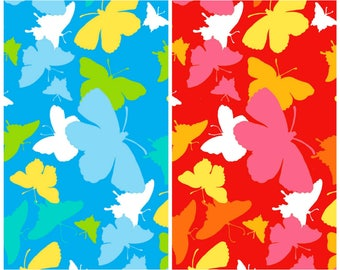 Henry Glass -  Butterflies from Jesus Loves Me Collection in Blue or Red by Sharyn Sowell #6612
