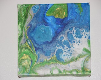 Island Dreams - Abstract Acrylic Pour Painting #8
