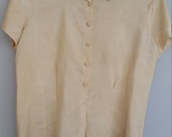 1940s blouse with rhinestone collar