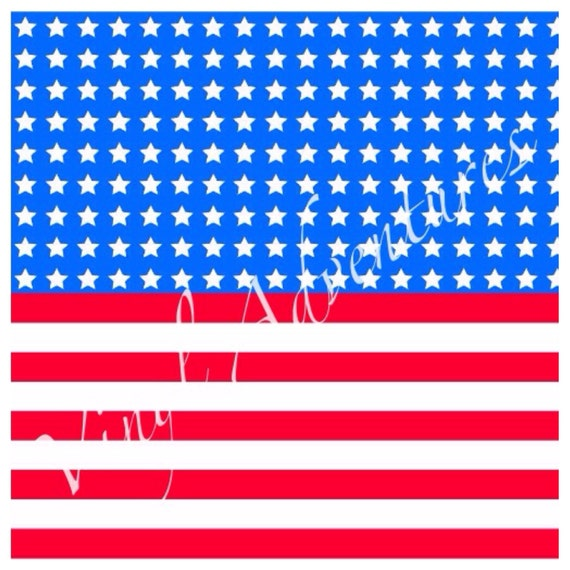 4th Of July Vinyl American Flag Stars And Stripes