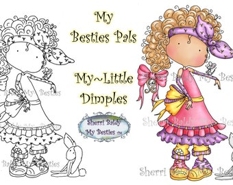 INSTANT DOWNLOAD Digital Digi Stamps Big Eye Big Head Dolls My Besties Pals My Little Dimples Img940 By Sherri Baldy