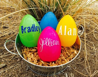 Personalized Easter Egg, Monogammed Easter Egg, Plastic Easter Eggs, Easter Basket, Fillable plastic egg, Easter Bunny, Easter Egg
