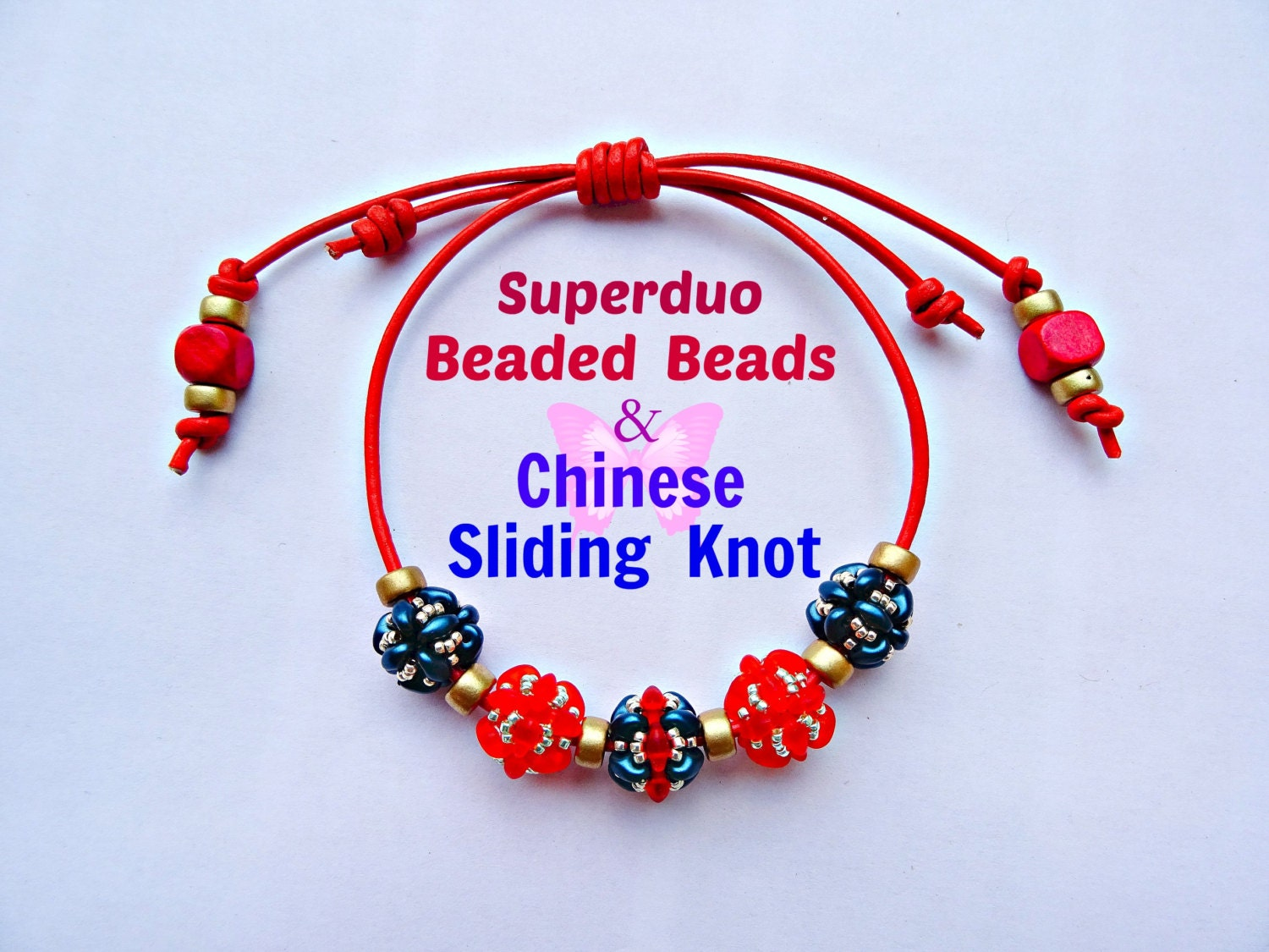 Tutorial beaded bead bracelet with chinese sliding knot pattern this is a digital file baditri Image collections