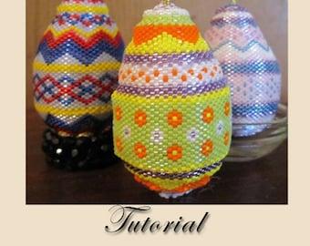 Pattern / Tutorial Beaded Ornament - Easter Egg