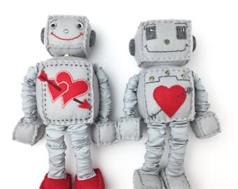 Cute Plush Felt Robot