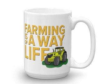 Coffee Cup Gift for Farmer  Farming Mug Farming Gift for Him Gift for Farmer Mug Gift for Dad Ceramic Mug Trending Now Farm