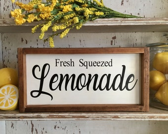 Fresh Squeezed Lemonade Farmhouse Inspired Sign