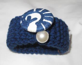 Wrist warmer crocheted bracelet -wrist cuff