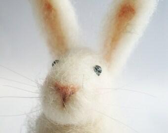 Needle Felted Animal , Needle Felted Rabbit , miniature animal , Home decor ,  Waldorf, weddings