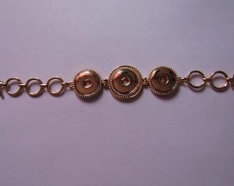 golden bracelet for 3 snap 18mm / 20mm