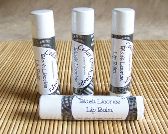 LIP BALM ~ Black Licorice Lip Balm ~  Natural Lip Balm with Shea Butter Anise EO