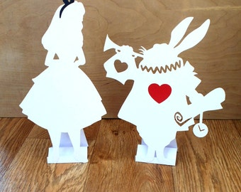 Alice in Wonderland Decorations Props Bundle White Rabbit, Alice, Keys, Tea pots, Cups Wedding Party