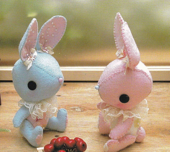 Kawaii Pretty Bunny miniature animal Mascots Stuffed Plush Toy Doll ...