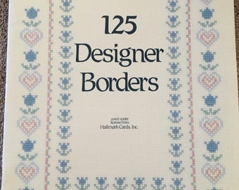 125 DESIGNER BORDERS Hallmark Cards DMC Designs by Gloria & Pat #64 1998 Vintage Counted Cross Stitch Chart Pattern Booklet Leaflet Pamphlet