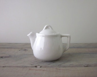 White China Teapot Restaurant Ware H. F. Coors