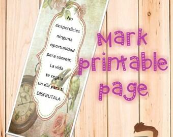 mark printable page vintage
