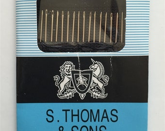 S. Thomas & Sons Betweens size 10 Hand Sewing Needles pkg of 20